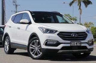 2016 Hyundai Santa Fe DM3 MY16 Highlander Pure White 6 Speed Sports Automatic Wagon.