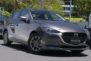 2020 Mazda 2 DL2SAA G15 SKYACTIV-Drive Pure Sonic Silver 6 Speed Sports Automatic Sedan.