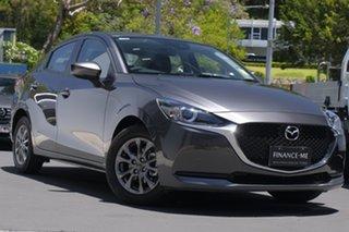 2021 Mazda 2 DL2SAA G15 SKYACTIV-Drive Pure Sonic Silver 6 Speed Sports Automatic Sedan.