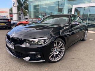 2019 BMW 420i F33 MY18 M Sport Black Sapphire 8 Speed Automatic Convertible.