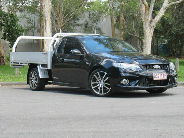 Used Ford Falcon FG MkII XR6 Super Cab, 2011 Ford Falcon FG MkII XR6 Super Cab Black 6 Speed Manual Cab Chassis