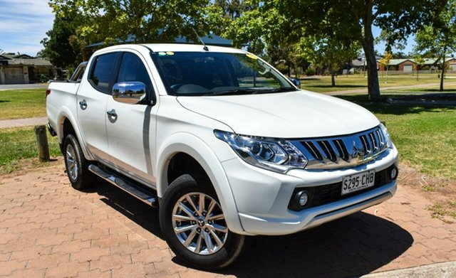 Used Mitsubishi Triton MQ MY16 GLS Double Cab Ingle Farm, 2015 Mitsubishi Triton MQ MY16 GLS Double Cab White 5 Speed Sports Automatic Utility