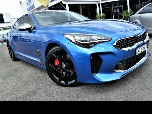 Used Kia Stinger CK MY18 (441) GT (Black Leather) Kingswood, 2017 Kia Stinger CK MY18 (441) GT (Black Leather) Blue 8 Speed Automatic Sedan