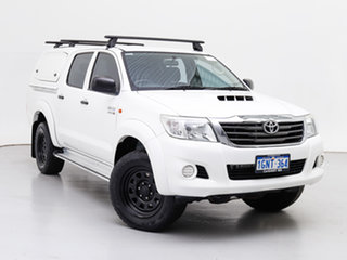 2013 Toyota Hilux KUN26R MY12 SR (4x4) White 4 Speed Automatic Dual Cab Pick-up.