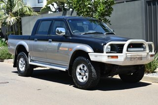 1998 Mitsubishi Triton MK GLS Double Cab Black 5 Speed Manual Utility