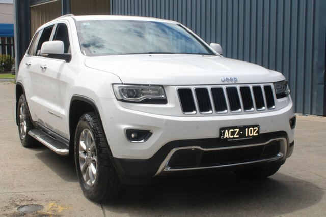 Used Jeep Grand Cherokee WK MY15 Limited (4x4) West Footscray, 2015 Jeep Grand Cherokee WK MY15 Limited (4x4) White 8 Speed Automatic Wagon
