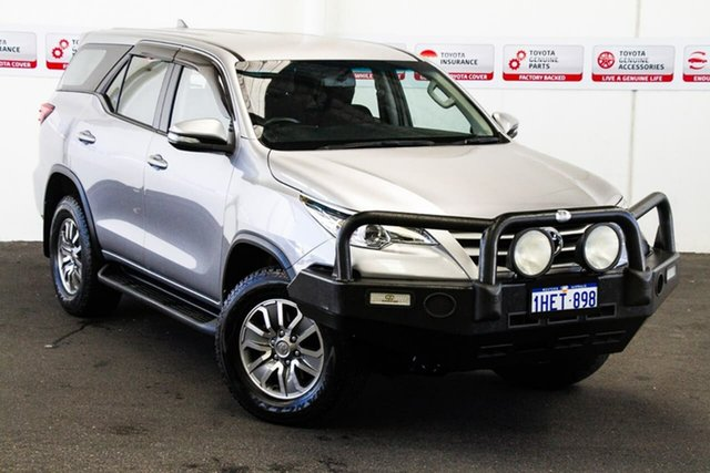 Pre-Owned Toyota Fortuner GUN156R GX Myaree, 2017 Toyota Fortuner GUN156R GX Silver Sky 6 Speed Automatic Wagon