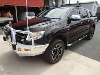 2013 Ford Ranger PX XLT 3.2 (4x4) Black 6 Speed Manual Double Cab Pick Up.