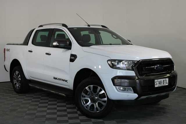 Used Ford Ranger PX MkII 2018.00MY Wildtrak Double Cab Wayville, 2018 Ford Ranger PX MkII 2018.00MY Wildtrak Double Cab White 6 Speed Sports Automatic Utility