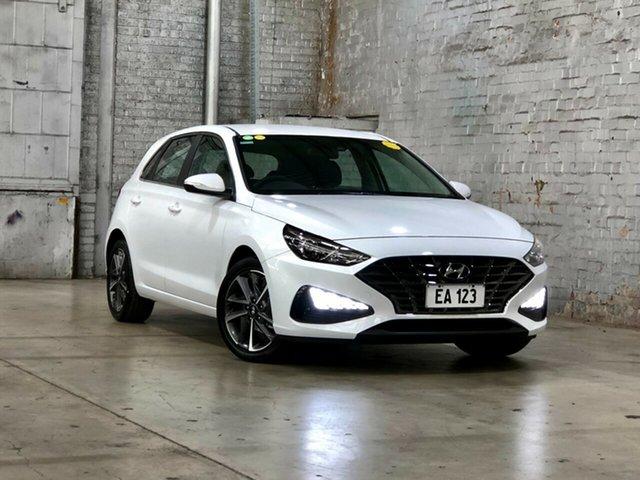 Used Hyundai i30 PD.V4 MY21 Active Mile End South, 2020 Hyundai i30 PD.V4 MY21 Active White 6 Speed Sports Automatic Hatchback