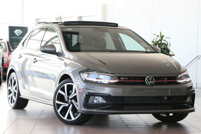 New Volkswagen Polo AW MY21 GTI DSG Epsom, 2021 Volkswagen Polo AW MY21 GTI DSG Limestone Grey 6 Speed Sports Automatic Dual Clutch Hatchback