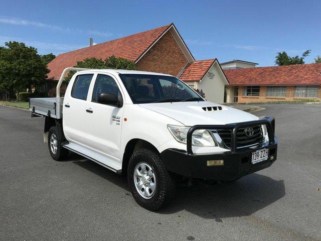 Used Toyota Hilux KUN26R SR Chermside, 2012 Toyota Hilux KUN26R SR White 5 Speed Manual Dual Cab
