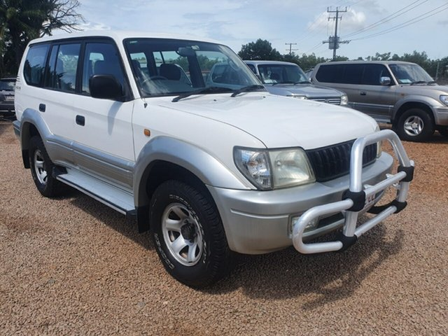 Used Toyota Landcruiser Prado VZJ95R GXL Pinelands, 1999 Toyota Landcruiser Prado VZJ95R GXL White 4 Speed Automatic Wagon