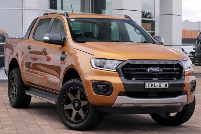 Used Ford Ranger PX MkIII 2019.75MY Wildtrak Warwick Farm, 2019 Ford Ranger PX MkIII 2019.75MY Wildtrak Saber 10 Speed Sports Automatic Double Cab Pick Up