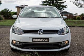 2015 Volkswagen Polo 6R MY16 66TSI Trendline White 5 Speed Manual Hatchback.
