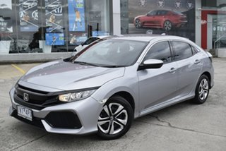 2018 Honda Civic 10th Gen MY18 VTi Billet Silver 1 Speed Constant Variable Hatchback.