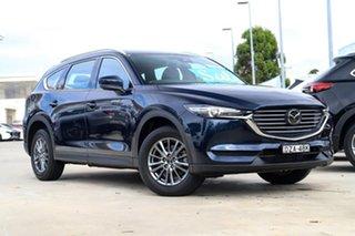 2018 Mazda CX-8 KG2W2A Sport SKYACTIV-Drive FWD Deep Crystal Blue 6 Speed Sports Automatic Wagon.