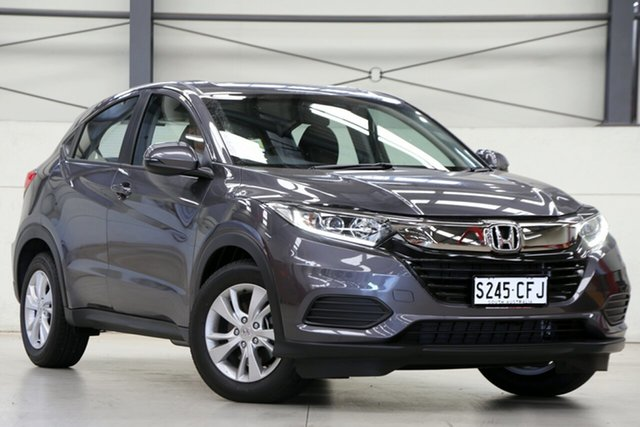 Demo Honda HR-V MY21 VTi Glen Osmond, 2020 Honda HR-V MY21 VTi Modern Steel 1 Speed Constant Variable Hatchback