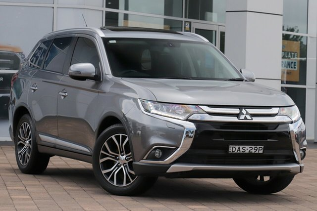 Used Mitsubishi Outlander ZK MY16 Exceed 4WD Warwick Farm, 2015 Mitsubishi Outlander ZK MY16 Exceed 4WD Silver 6 Speed Sports Automatic SUV