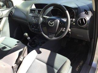 2016 Mazda BT-50 UR0YF1 XT Silver 6 Speed Manual Cab Chassis
