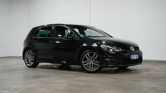 Used Volkswagen Golf VII MY16 110TSI DSG Highline Welshpool, 2016 Volkswagen Golf VII MY16 110TSI DSG Highline Black 7 Speed Sports Automatic Dual Clutch