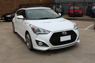 2013 Hyundai Veloster FS MY13 SR Turbo White 6 Speed Automatic Coupe.