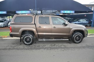 2012 Volkswagen Amarok 2H MY12.5 TDI400 (4x4) Brown 6 Speed Manual Dual Cab Utility.