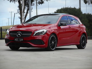 2017 Mercedes-Benz A-Class W176 807MY A180 D-CT Red 7 Speed Sports Automatic Dual Clutch Hatchback