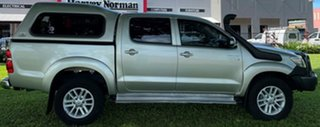 2013 Toyota Hilux KUN26R MY14 SR5 Double Cab Silver 5 Speed Automatic Utility.