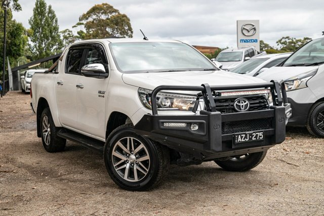 Used Toyota Hilux GUN126R SR5 Double Cab Mornington, 2019 Toyota Hilux GUN126R SR5 Double Cab White 6 Speed Manual Utility