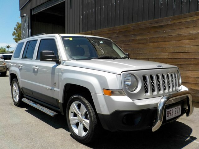 Used Jeep Patriot MK MY2012 Sport CVT Auto Stick 4x2 Labrador, 2012 Jeep Patriot MK MY2012 Sport CVT Auto Stick 4x2 Silver 6 Speed Constant Variable Wagon