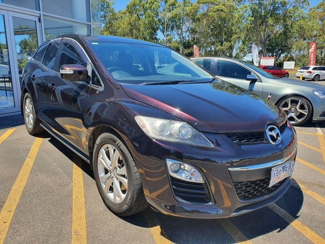 Used Mazda CX-7 ER10A2 Sports Epsom, 2010 Mazda CX-7 ER10A2 Sports Purple 6 Speed Manual Wagon