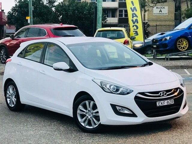 Used Hyundai i30 GD2 MY14 Trophy Liverpool, 2014 Hyundai i30 GD2 MY14 Trophy White 6 Speed Sports Automatic Hatchback