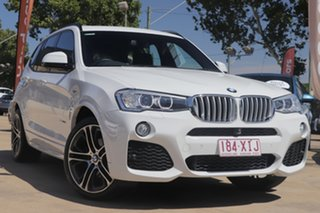 2014 BMW X3 F25 MY1213 xDrive30d Steptronic White/black Leather 8 Speed Automatic Wagon.
