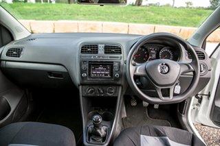 2015 Volkswagen Polo 6R MY16 66TSI Trendline White 5 Speed Manual Hatchback