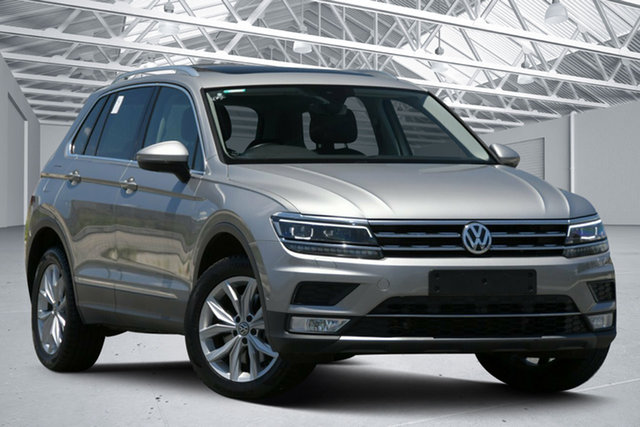Used Volkswagen Tiguan 5NA 162 TSI Highline Eagle Farm, 2017 Volkswagen Tiguan 5NA 162 TSI Highline Grey 7 Speed Auto Direct Shift Wagon