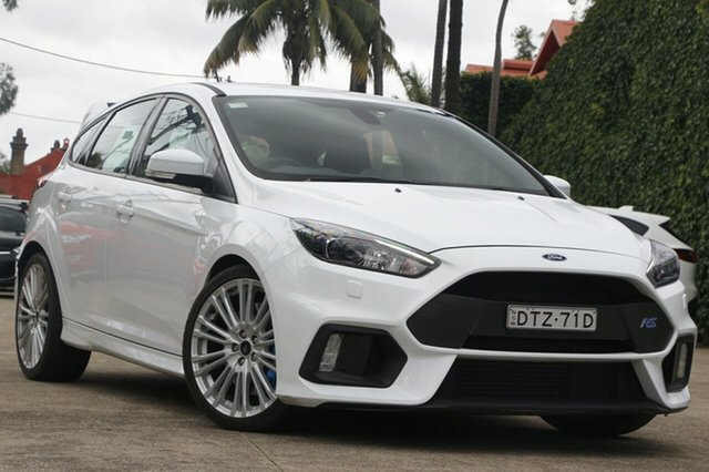 Pre-Owned Ford Focus LZ RS Mosman, 2017 Ford Focus LZ RS White 6 Speed Manual Hatchback