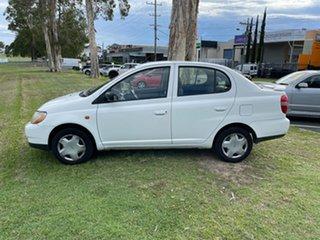 1999 Toyota Echo NCP12R White 4 Speed Automatic Sedan