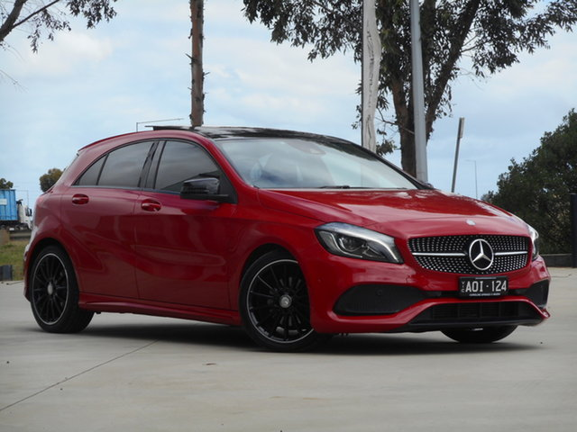 Used Mercedes-Benz A-Class W176 807MY A180 D-CT Ravenhall, 2017 Mercedes-Benz A-Class W176 807MY A180 D-CT Red 7 Speed Sports Automatic Dual Clutch Hatchback