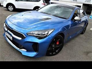 2017 Kia Stinger CK MY18 (441) GT (Black Leather) Blue 8 Speed Automatic Sedan.