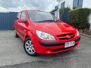 2008 Hyundai Getz TB MY07 S Red 4 Speed Automatic Hatchback.