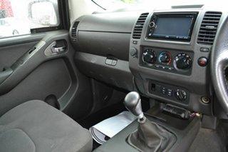 2007 Nissan Navara D40 ST-X (4x4) White 6 Speed Manual Dual Cab Pick-up