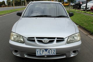 2002 Hyundai Accent LC GS Silver 4 Speed Automatic Hatchback.