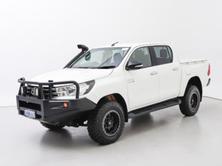 2016 Toyota Hilux GUN126R SR (4x4) White 6 Speed Manual Cab Chassis.