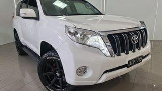 2015 Toyota Landcruiser Prado KDJ150R MY14 GXL White 5 Speed Sports Automatic Wagon.
