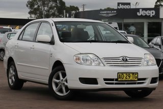 2007 Toyota Corolla ZZE122R 5Y Ascent Super White 4 Speed Automatic Sedan.