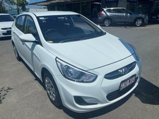 2015 Hyundai Accent RB3 MY16 Active Century White 6 Speed Manual Hatchback.
