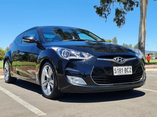 2014 Hyundai Veloster FS3 + Coupe D-CT Black 6 Speed Sports Automatic Dual Clutch Hatchback.