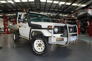 2006 Toyota Landcruiser HZJ79R (4x4) White 5 Speed Manual Cab Chassis.
