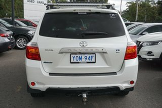 2009 Toyota Kluger GSU40R Altitude 2WD White 5 Speed Sports Automatic Wagon